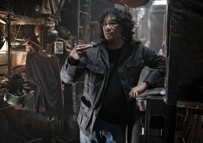 Bong Joon-ho on set.