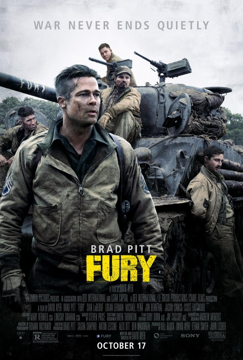 "The second-best Brad Pitt WWII film I can think of. And the second-best film titled ""Fury"" that I can think of. ()"
