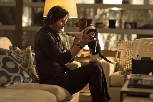 So let's begin with Keanu and a puppy. ()