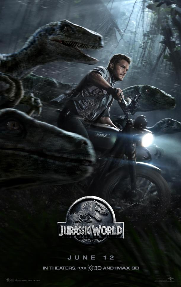 You can't deny the primal appeal of a man riding a motorcycle whilst flanked by velociraptors. Just look at the box-office. (Source)