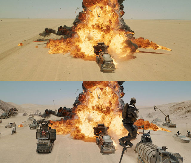 Mad Max VFX before-after