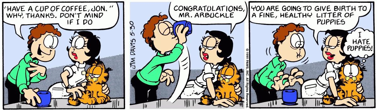 Have A Cup Of Coffee Jon On The Greatest Garfield Strip Of All Time If You Want The Gravy